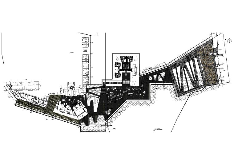 [重庆]知名地产金色悦城地块景观设计施工图