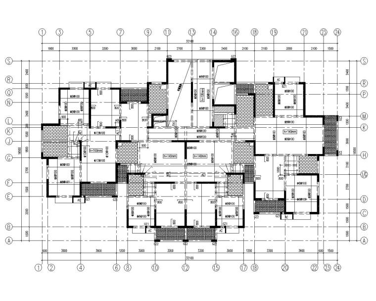 28层高层住宅混凝土结构施工图(CAD)