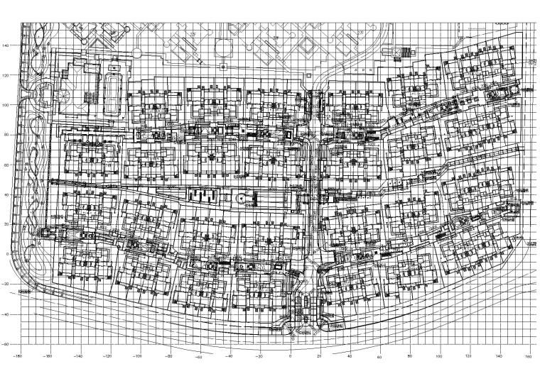 总平面定位图