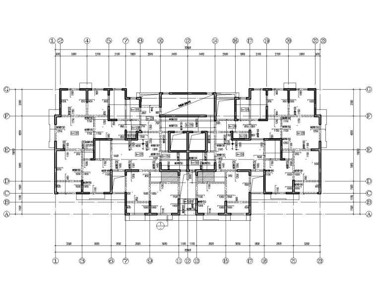 24层高层住宅剪力墙结构施工图(CAD)