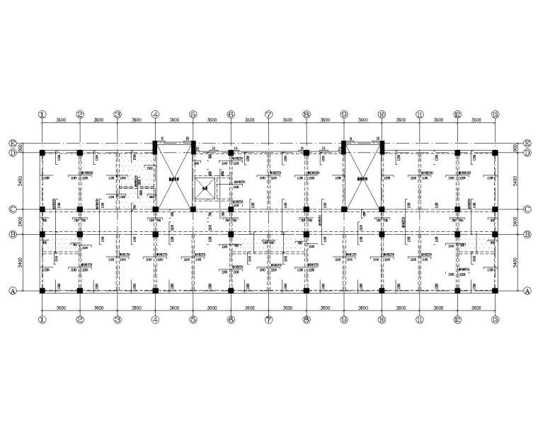 五层办公楼框架结构施工图(CAD)