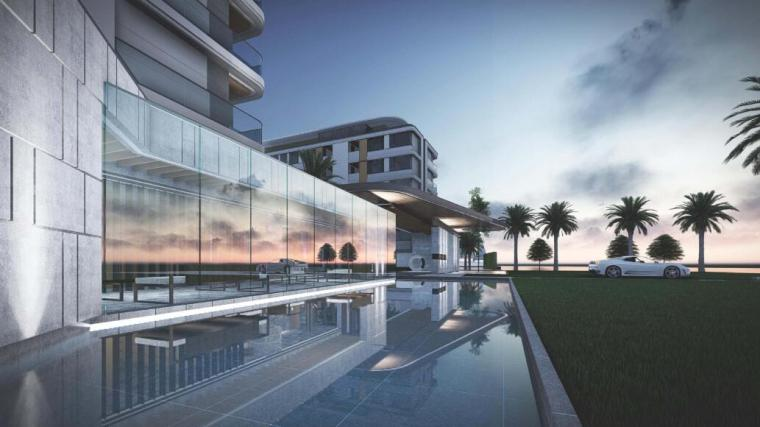 现代风格洋房+下跃住宅规划及建筑方案设计