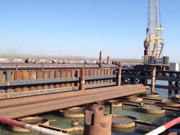 特大桥大型深水锁扣钢管桩围堰施工技术培训