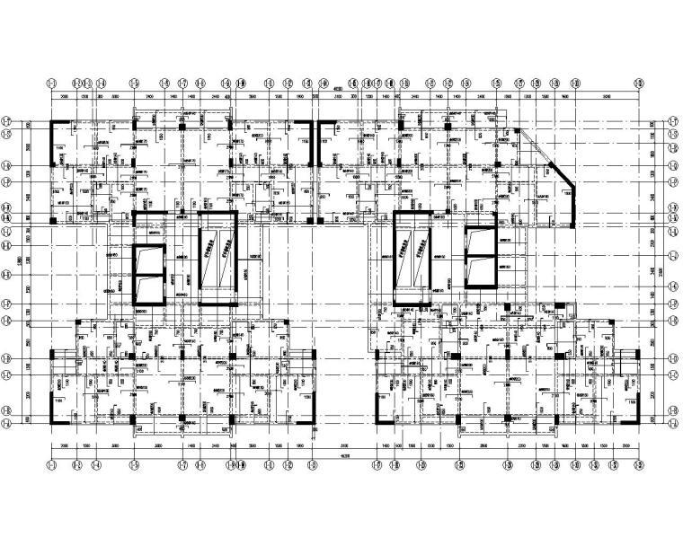 30层高层商住框架剪力墙结构施工图(CAD)