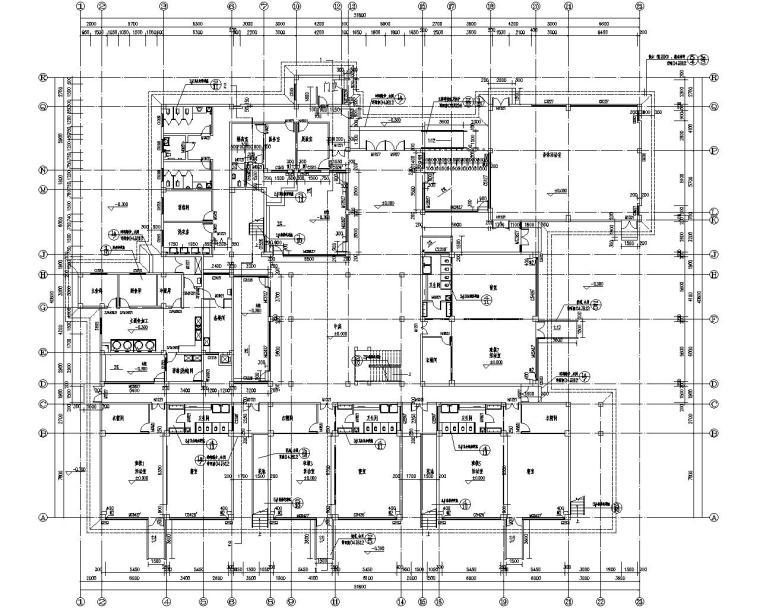 西南三层幼儿园结构施工图(CAD含建筑图)