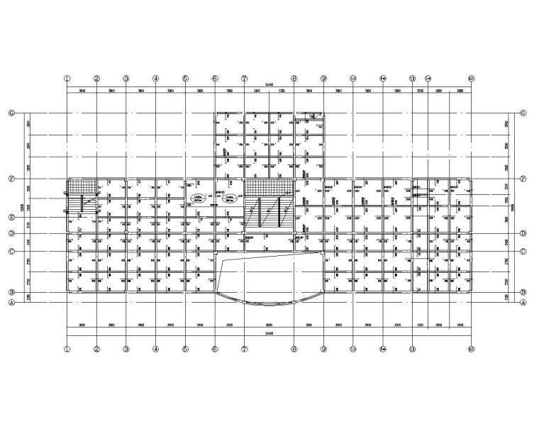 三层办公楼混凝土框架结构施工图(CAD)