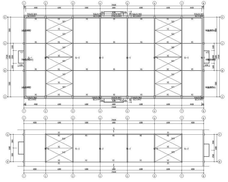 单层工业厂房车间结构施工图(CAD)