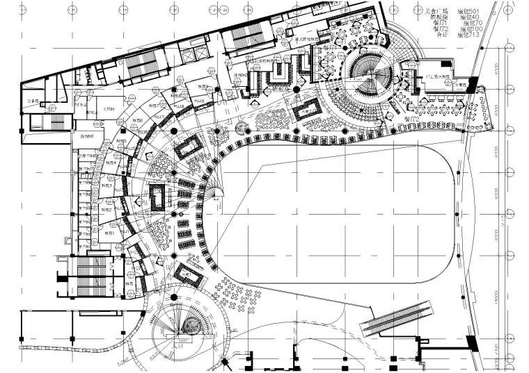 [辽宁]沈阳万象城美食广场装饰设计施工图