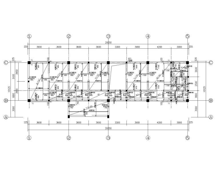 三层仿古建筑混凝土结构施工图(CAD)