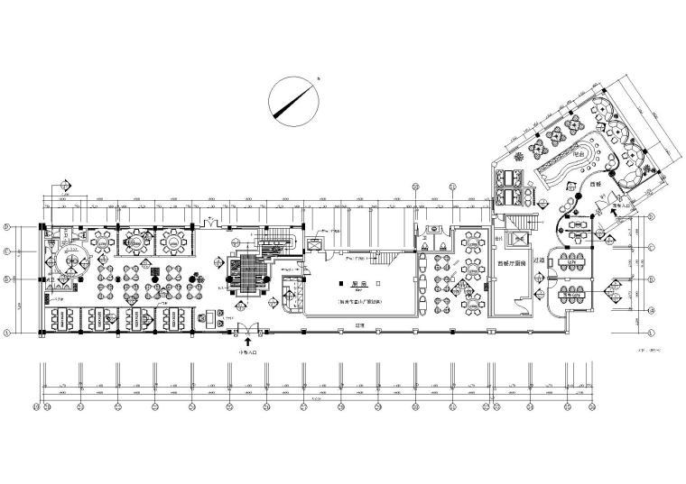 经典二层中式餐厅室内装饰设计施工图