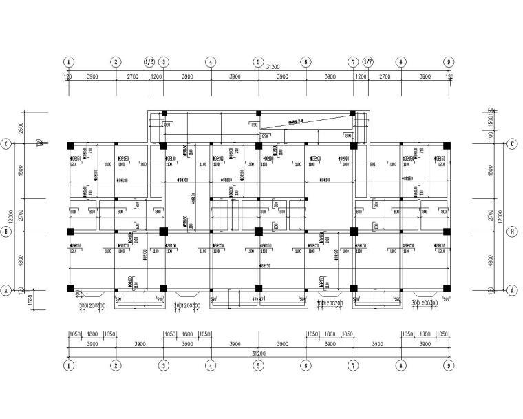五层框架结构商住楼结构施工图(CAD)