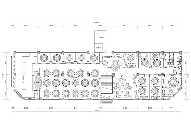 [四川]成都889㎡现代砖混结构酒楼室内图纸