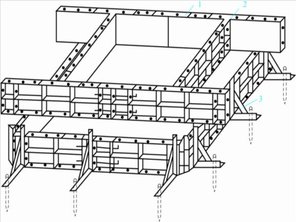 建筑施工技术之模板工程施工工艺-独立柱基础组合钢模板