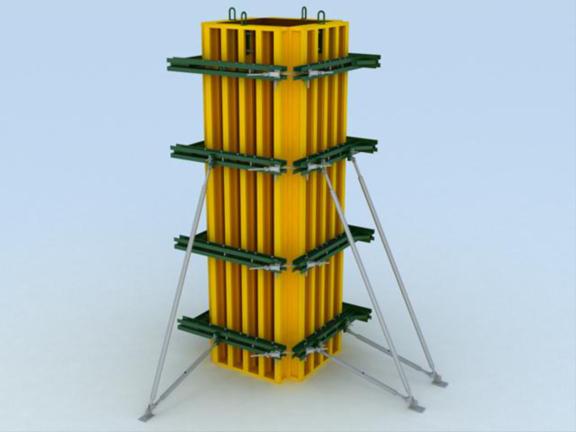 建筑施工技术之模板工程施工工艺-柱箍