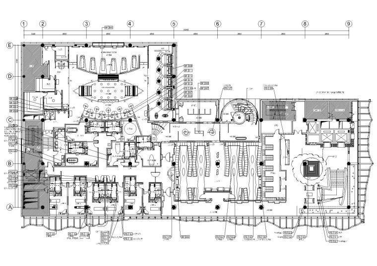 北京静雅八层现代会所设计施工图+效果图