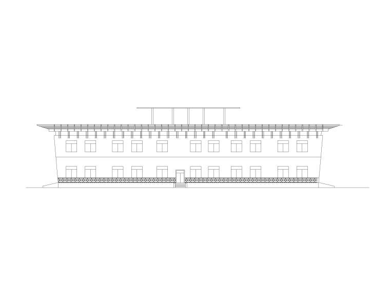 3层4415.5平米城市展览馆建筑方案图设计CAD