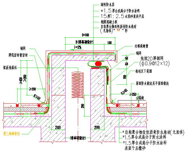 [广州]高层商业住宅防水工程施工方案