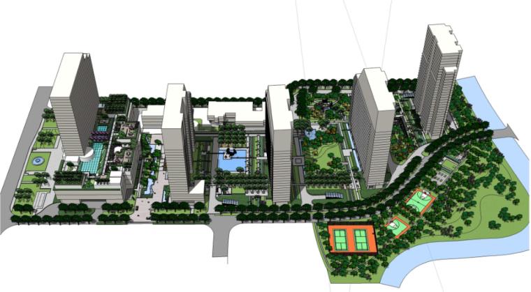 [浙江]杭州现代生态自然居住区景观设计方案