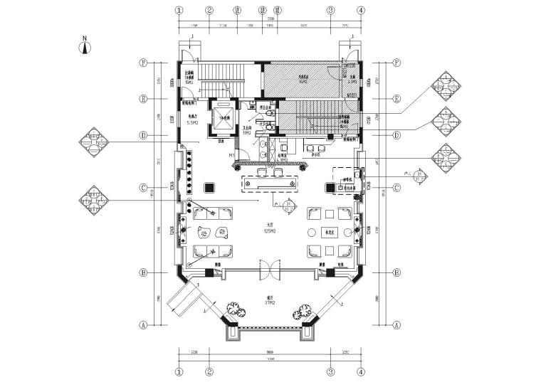 [青岛]创新产业综合功能办公空间设计施工图