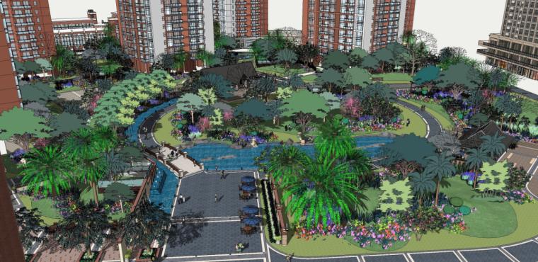 [云南]昆明热带风情现代居住区景观设计方案