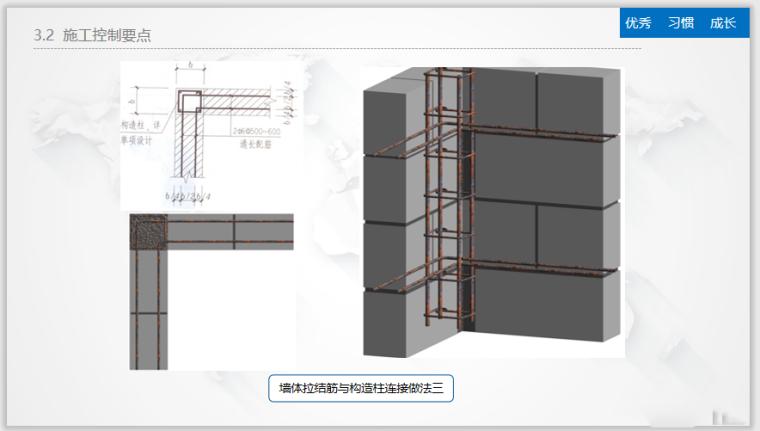 墙体拉结筋与构造柱连接做法二