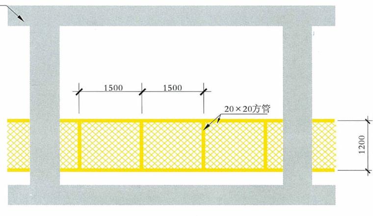 43钢板网防护示意图
