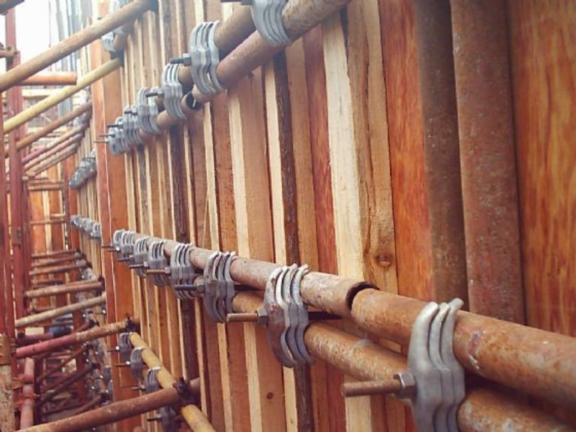 建筑施工技术之模板工程施工工艺-形扣件