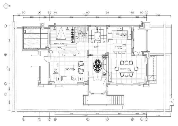 [烟台]现代二层公馆别墅样板间设计施工图
