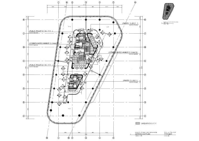 [上海]知名地产T1办公楼展示样板区域施工图