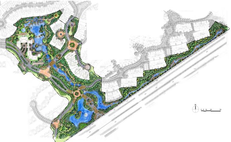 [云南]昆明高端居住空间样板区景观设计方案
