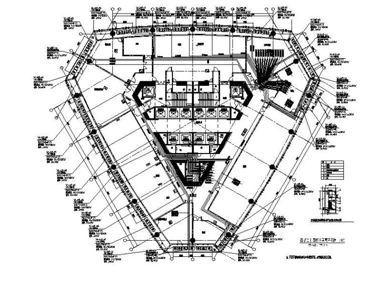 西塔二十四层冷媒管平面图