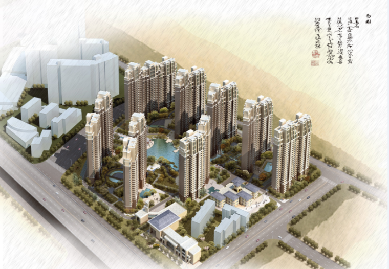 [江苏]南京国际化高档住宅小区景观设计方案