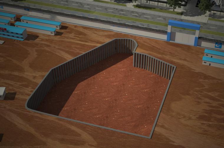 基坑工程BIM技术应用(建模碰撞交底受力)