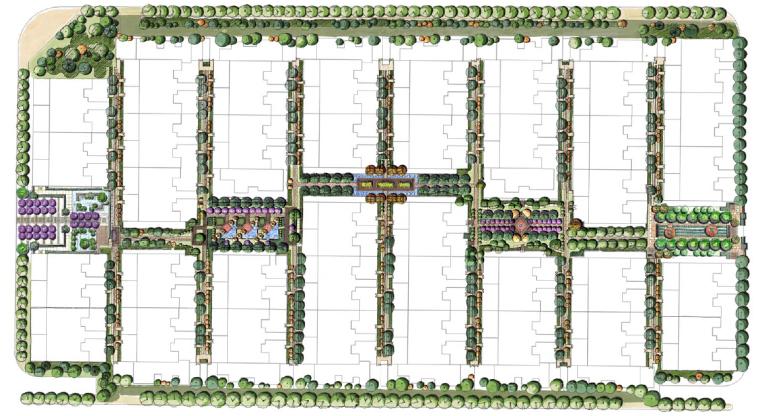 [陕西]西安传统花园式庭院景观设计方案