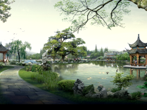 古典园林效果图PS素材100套(49~63)