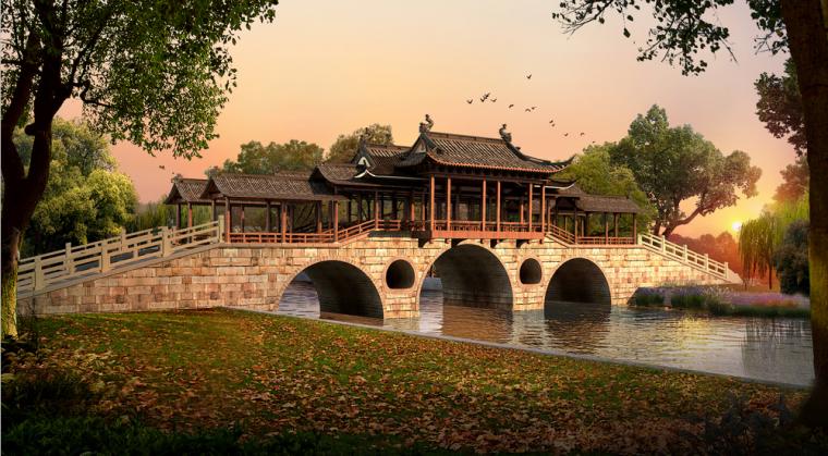 古典园林效果图PS素材100套(13~24)