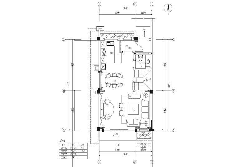 [成都]法式三层联排别墅样板间施工图+效果
