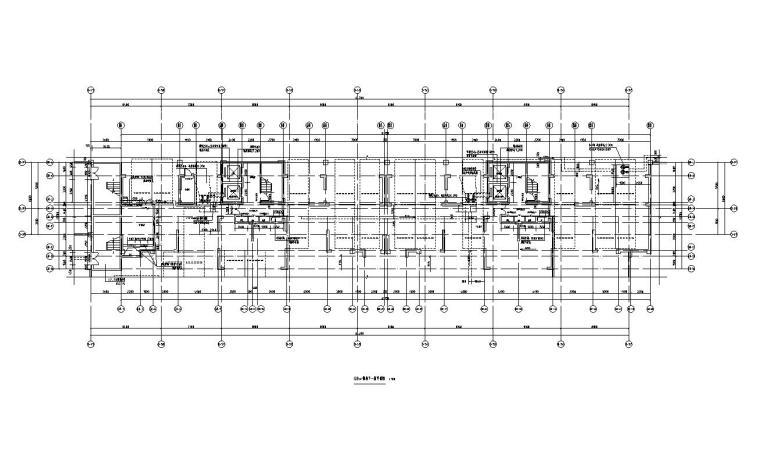 两梯二户二个单元+四房两厅三卫户型图设计