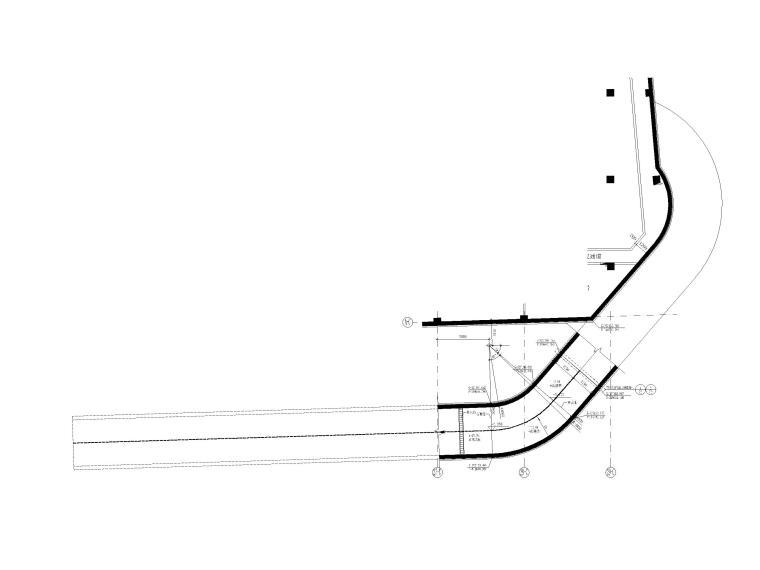 办公中心汽车坡道详图设计(CAD)