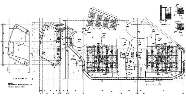 四房两厅两卫+两房一厅一卫户型图设计