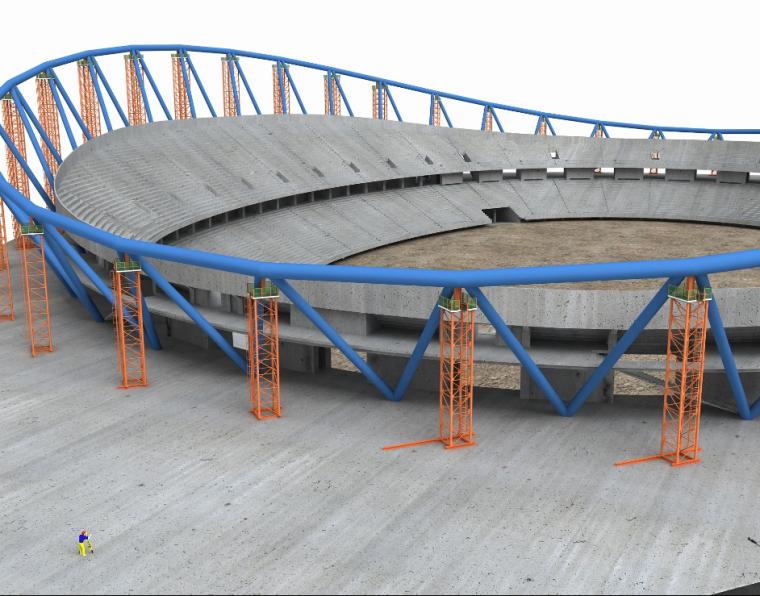 工业园区钢结构工程体育场测量专项方案