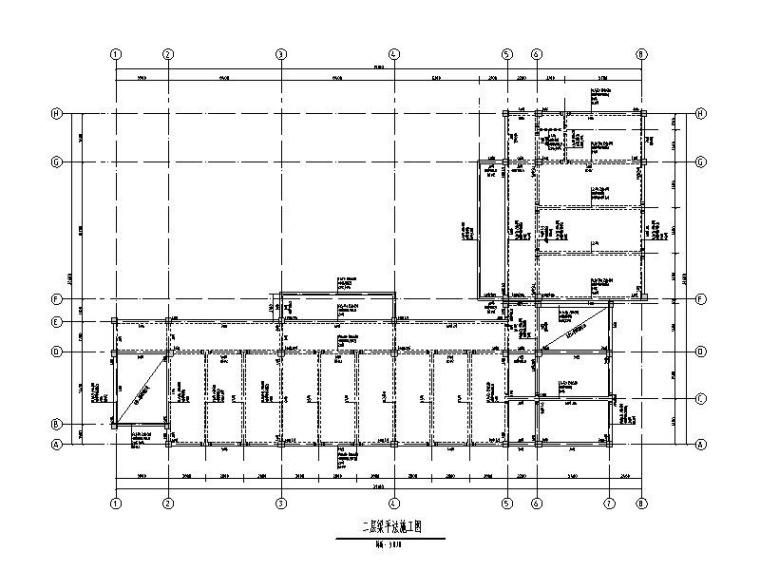 4层框架教学楼结构施工图2019_梁板体系屋盖
