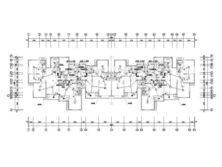 上海市浦东新区某1、2#住宅楼电气图纸