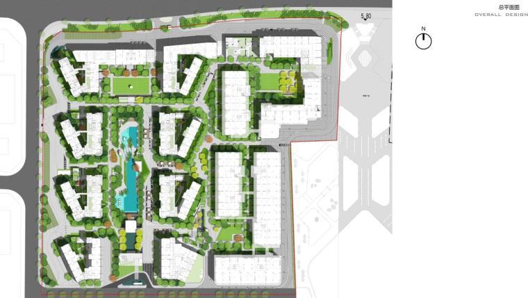 [海南]现代都市气息大都会景观方案文本-总平面图