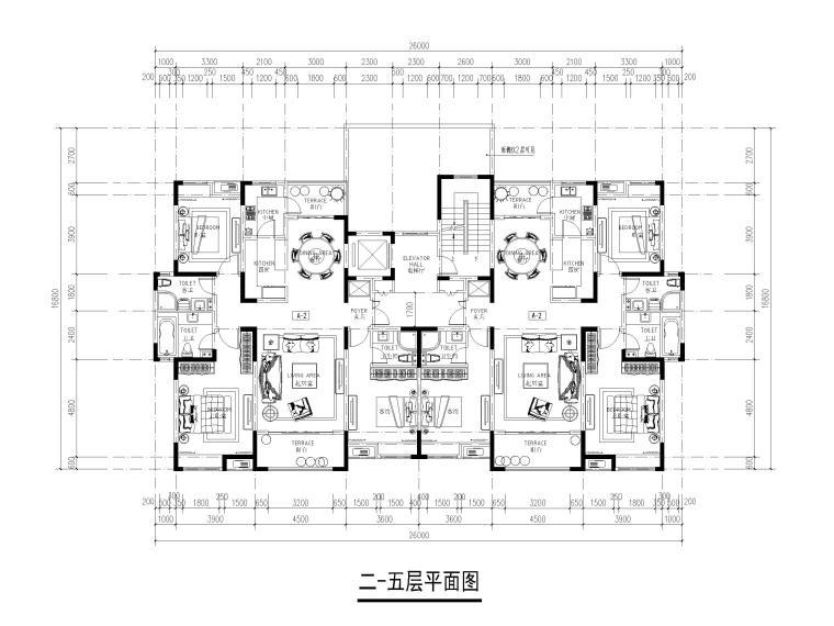 22套多层住宅平层户型设计(CAD)