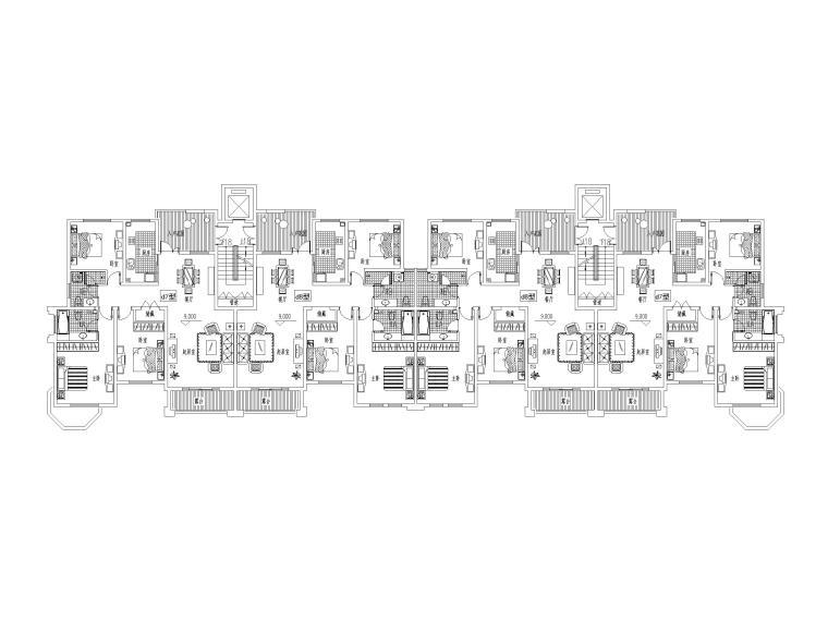 14套多层洋房平面户型设计(CAD)