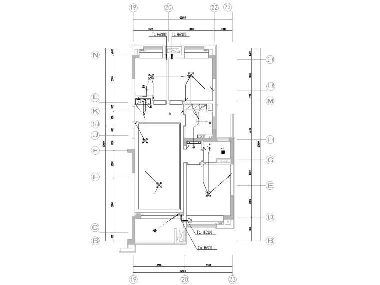 知名某科地产户型装修项目电气图纸