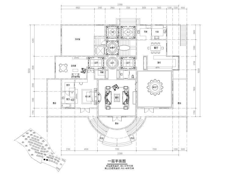 33套独栋别墅建筑平面户型设计(CAD)