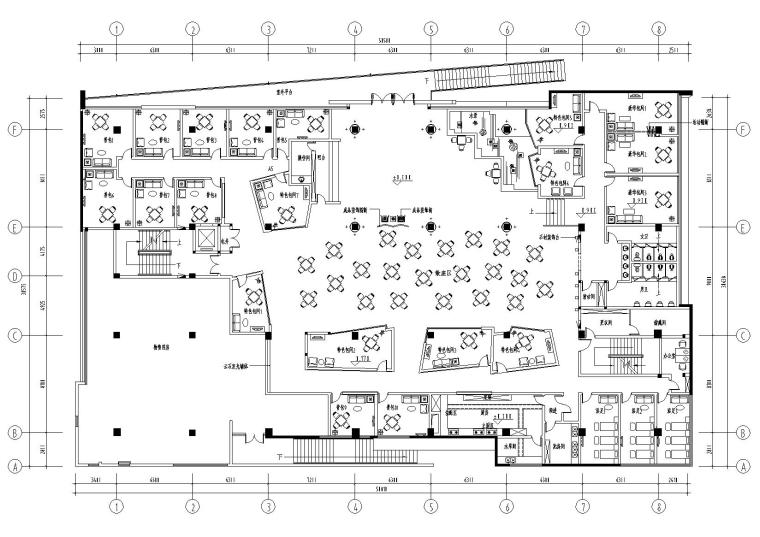 [武汉]1185㎡现代会所空间装饰设计施工图