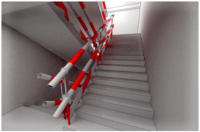 框剪结构高层住宅工程安全文明施工方案-01 楼梯口防护示意图